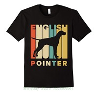 Hip Hop Novelty T Shirts Men S Brand Clothing Vintage Style English Pointer Silhouette T Shirt