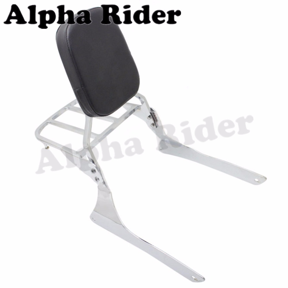 Rear Luggage Rack Saddlebag Support Trunk Holder Cargo Shelf Bracket Backrest Sissy Bar for Suzuki Intruder VL 1500 VL1500 C90