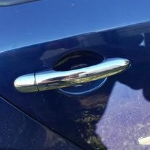 цена Free Shipping For Renault Laguna II 2001- 2007 ABS chrome Door handle catch cover Trim cap auto accessories онлайн в 2017 году