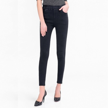 High Waist Push Up Fake Jeans 1