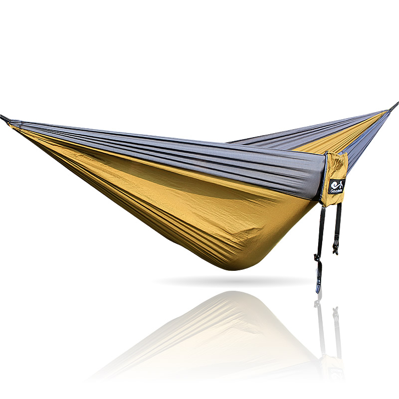 Black Army Black Color Hammock 300*200cm 210T Nylon Loading 350kg Outdoor Furniture