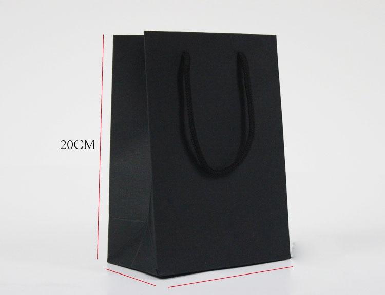 Ofis ve Okul Malzemeleri'ten Dosya Klasörü'de Küçük Boy 250gsm siyah kart stoğu çanta can baskı ile özel logo kağıt torba/alışveriş çantası'da  Grup 1