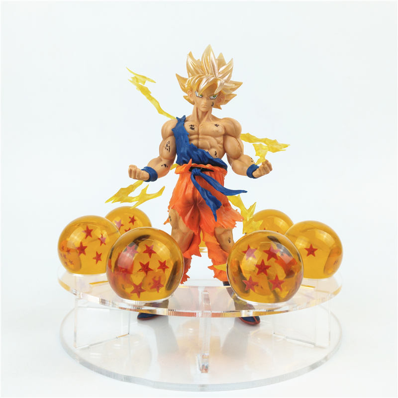 Dragon Ball Z PVC Action Figure Super Saiyan Son Goku Crystal Balls Collectible Model Toy shfiguarts batman injustice ver pvc action figure collectible model toy 16cm kt1840
