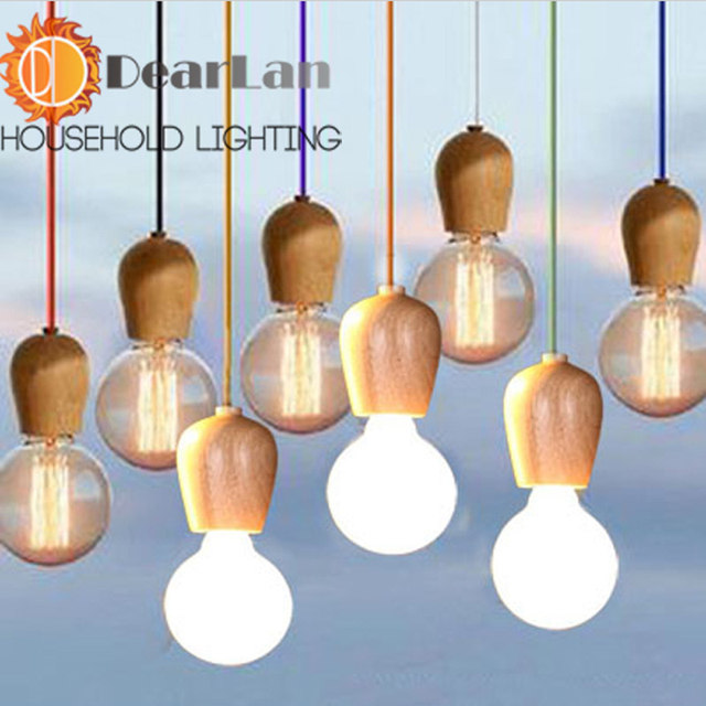 Online Shop Good Looking Vintage Wooden Pendant Lamps,1M For Cable ...