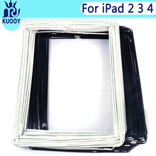 100pcs LCD Touch Frame For iPad 2 3 4 Digitizer Screen Front Middle Plate Bezel with Adhesive Sticker