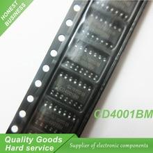 20pcs free shipping CD4001BM CD4001 HEF4001BT HEF4001 SOP-14 With each other Logic Gates CMOS Quad 2-In new original