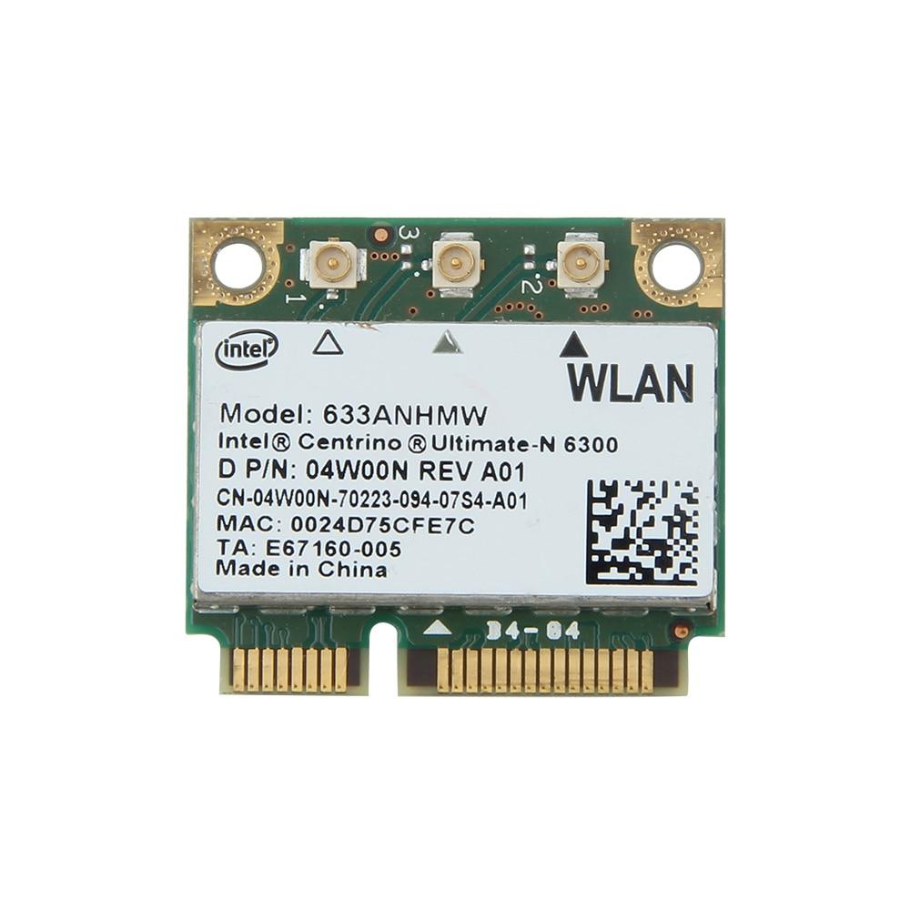 Dual Band Wireless-N For Intel 6300 633ANHMW 450Mbps Wifi Mini PCI-E Wireless Card 802.11a/g/n 2.4G/5G