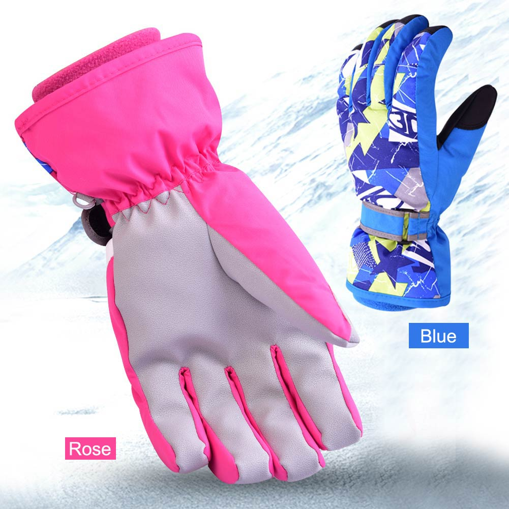 New Winter Outdoor Cycling Climbing Ski Snowboard Waterproof Breathable Thicken Warm Parent-child Gloves adult/child