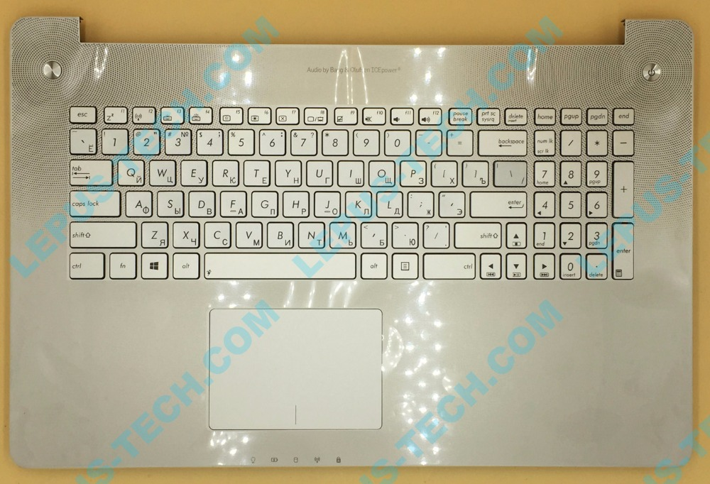 RU Keyboard for ASUS N750 N750JK N750JV with backlight top case palmrest R layout цена