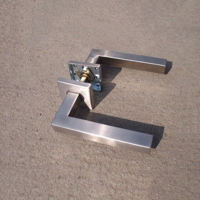 304 Stainless Steel Square Door Push/Pull Handle Entry Hollow Door Lever  Handles