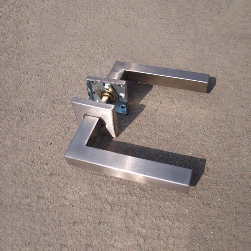 Brand New Stainless Steel 304 Lever Door Handle Interior Door Lever Handles Square Tube Entry