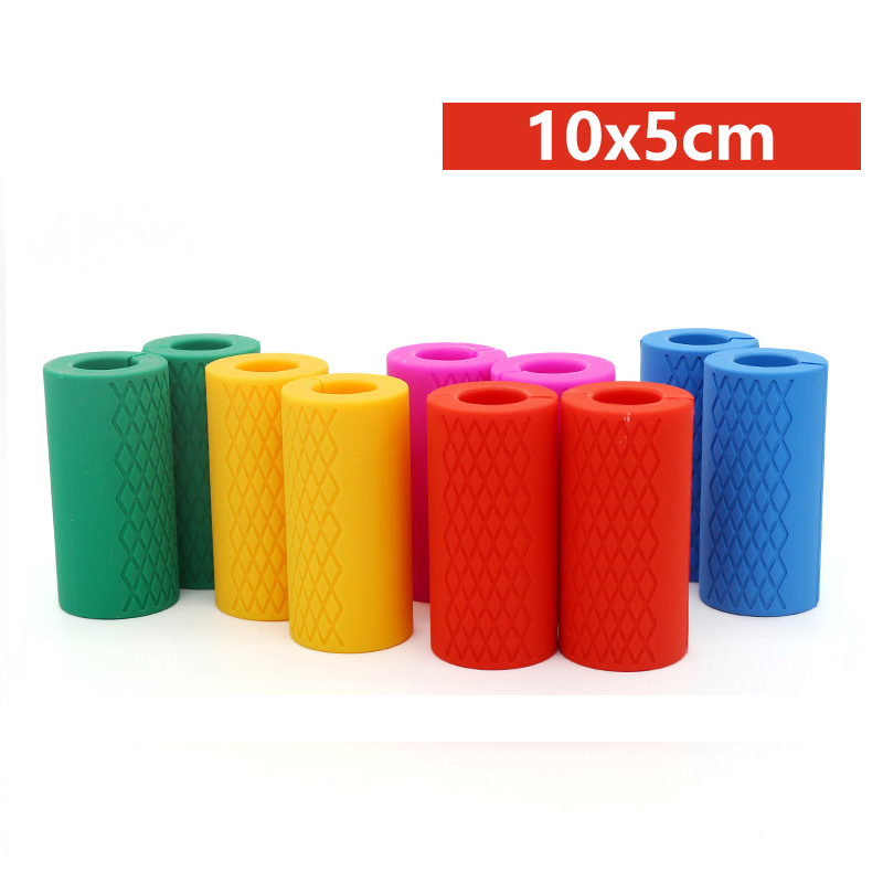 Barbell Dumbbell Grips Thick Bar Handles Silicone Anti-slip Protect Pad Pull Up Weightlifting Fat Grip Support
