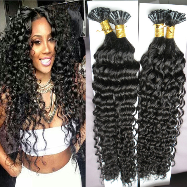 20222426 Mongolian Kinky Curly Hair U Tip Hair Extension 200s