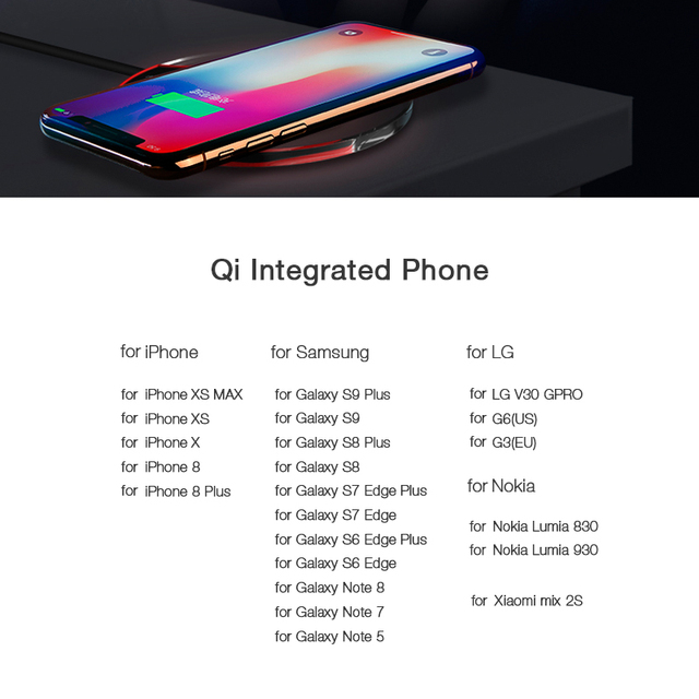 Qi Wireless Charger for Samsung Galaxy S9 S8 Plus Suntaiho Fashion Charging Dock Cradle Charger for iphone XS MAX XR 8Plus phone 5