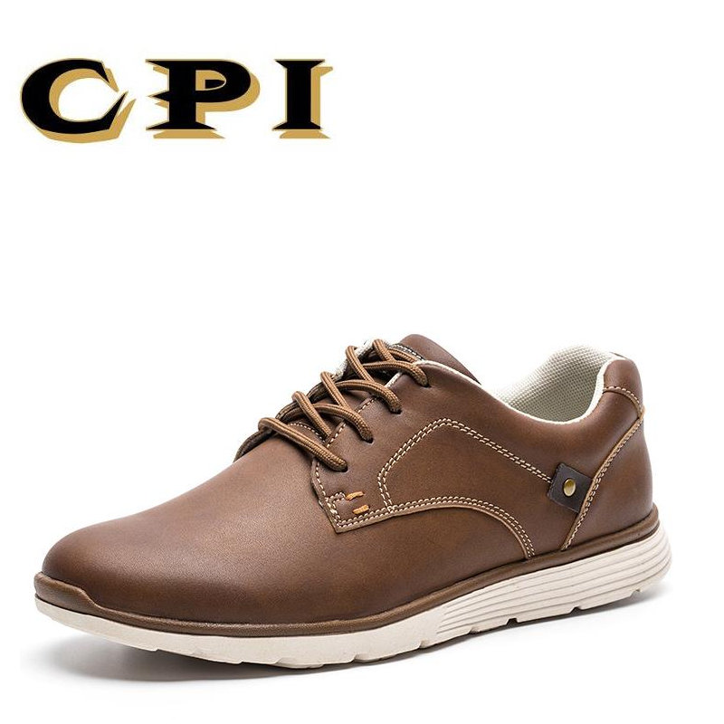 CPI 2017 New Fashion Men's casual leather shoes Men's Light soft Comfortable Breathable  leather men flats shoes AA-08 top brand high quality genuine leather casual men shoes cow suede comfortable loafers soft breathable shoes men flats warm