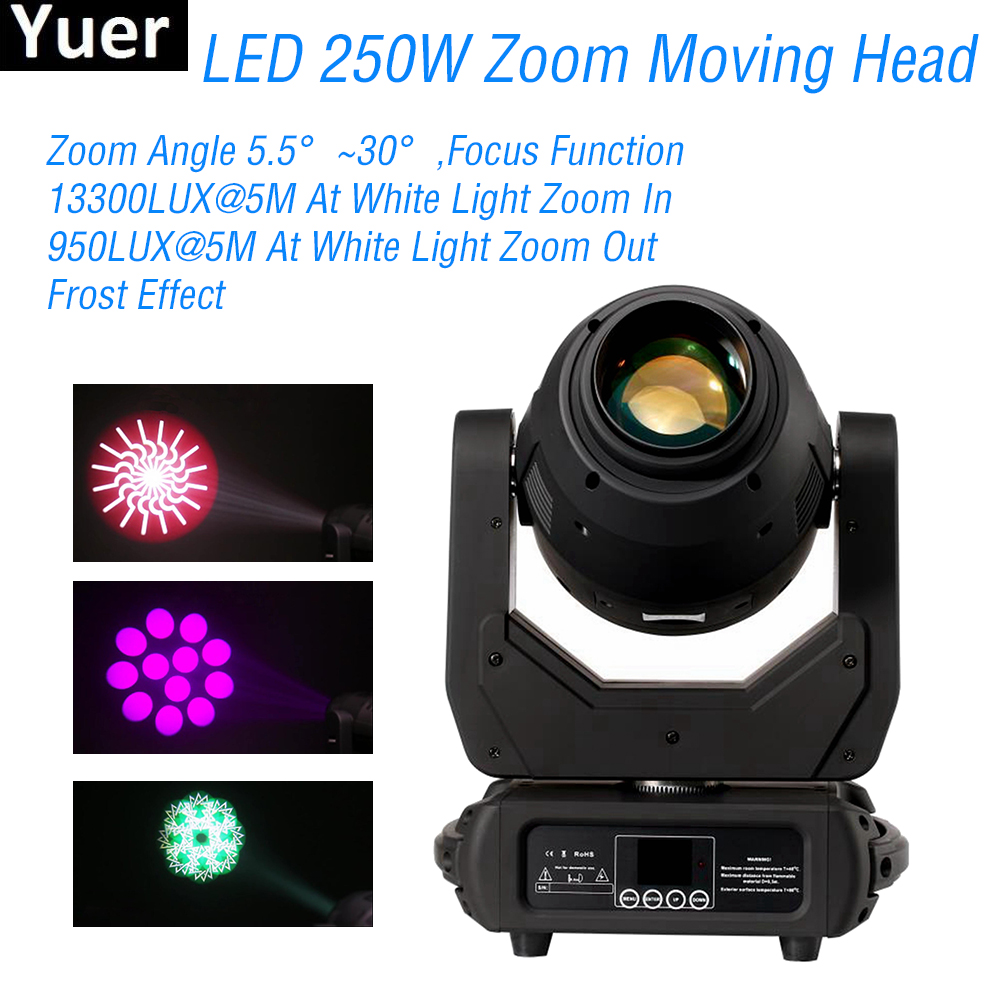 New 250W LED Zoom Moving Head Light 3IN1 DMX512 Sound Control DJ Disco Party Club Lights Color Musci Stage Moving Head LightsNew 250W LED Zoom Moving Head Light 3IN1 DMX512 Sound Control DJ Disco Party Club Lights Color Musci Stage Moving Head Lights