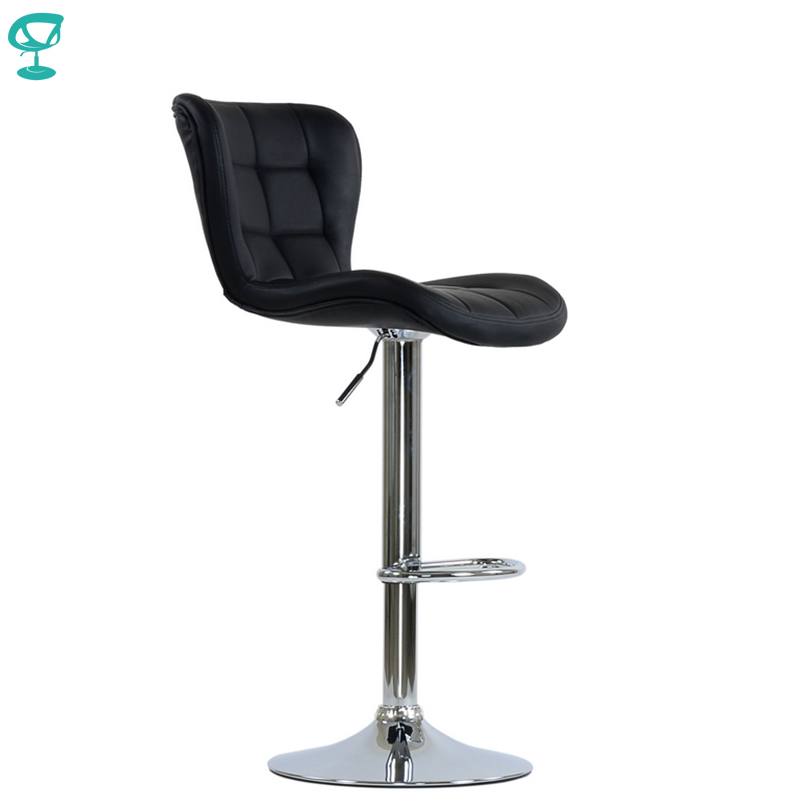 95509 Barneo N-30 Leather Kitchen Breakfast Bar Stool Swivel Bar Chair Light Black Color Free Shipping In Russia