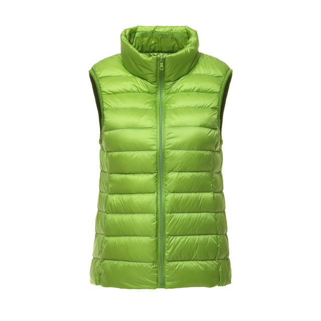 Women Vest Candy Colors 90% White Duck Down Vest 2016 New Arrival Sexy Slim Short Jackets Parka Plus Size S-3XL