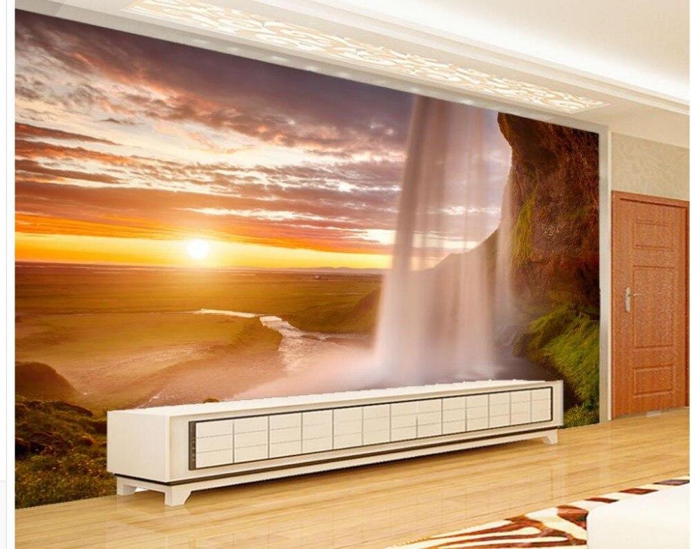 Cascada mural de papel tapiz compra lotes baratos de for Mural pared personalizado