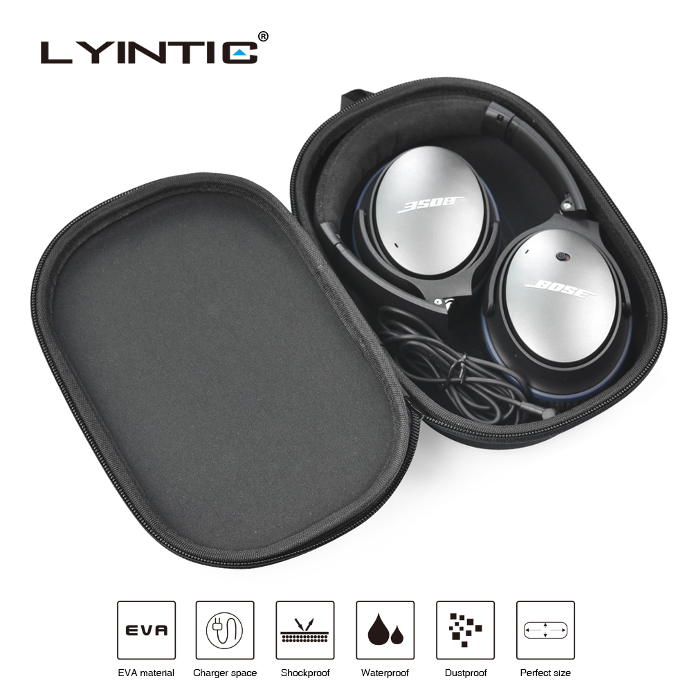 Portable Hard Shockproof Headphone Bag Earphone Case Storage Carry Pouch Hard Box Accessories For Bose QC15 QC25 QC35 Headset