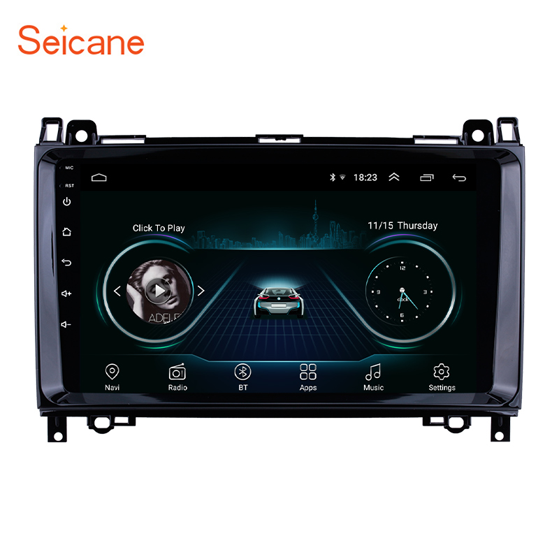 Seicane 2Din 9 inch Android 8.1 Car Stereo Player GPS For <font><b>Mercedes</b></font> Benz B <font><b>W245</b></font> B150 B160 <font><b>B170</b></font> B180 B200 B55 2004 2005 2006-2012 image