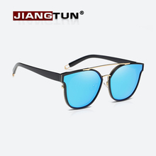 JIANGTUN Fashion Cat Eye Sunglasses Women Brand Designer Retro Double bridge Female Sun Glasses oculos de sol feminino UV400