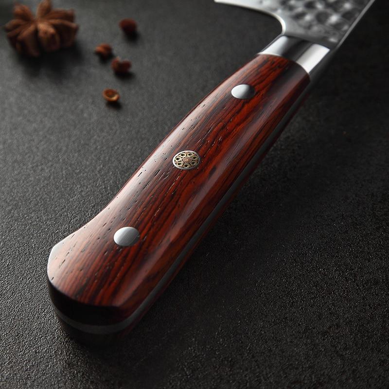 """Ev ve Bahçe'ten Mutfak Bıçakları'de XINZUO 8.5 """"inç şef Bıçağı vg10 Şam Çelik Japon Mutfak Çatal Gülağacı Kolu Paslanmaz Çelik Gyutou Bıçaklar'da  Grup 3"""