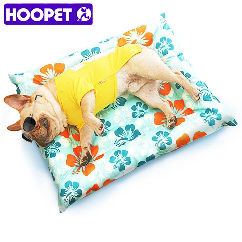 HOOPET дышащая собака кошка Лето принт коврик Самоохлаждением мат холодной Pad подушки лед для большой маленькая собака