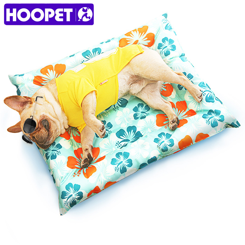 HOOPET Breathable Pet Dog Cat Summer Print Sleeping Mat Self Cooling Mat Cold Pad Ice Cushion For Big Small Dog