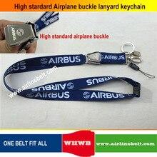 Llavero con hebilla para Airbus Boeing airairplane, cordón con soporte para tarjeta de identificación de piloto, clip de cierre de presión, anillo de puerta, cadena de eslinga