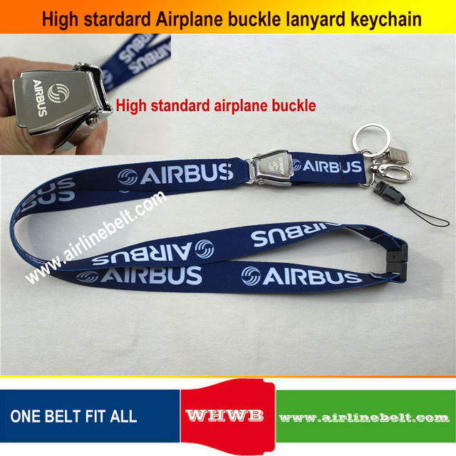 keyring Airbus Boeing aircraft airplane buckle Lanyard Pilot Crews ID Card Holder snap clasp clip Spring Gate ring sling string