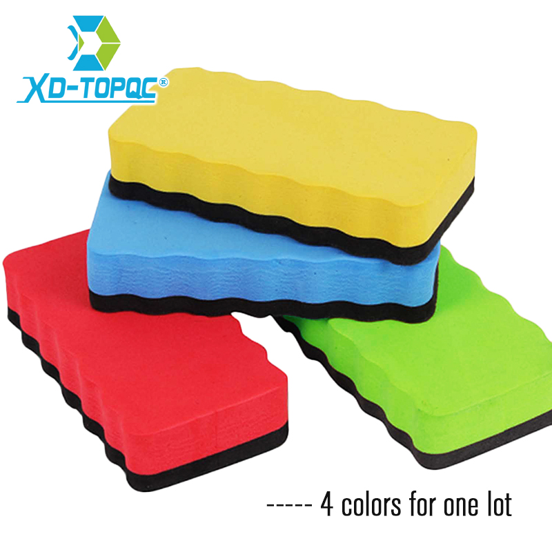 4pcs/lot Magnetic Eraser For Chalkboard Whiteboard Stylish 4 Colors Wipe Dry Drawing Marker Cleaner School Office Supplies ER03