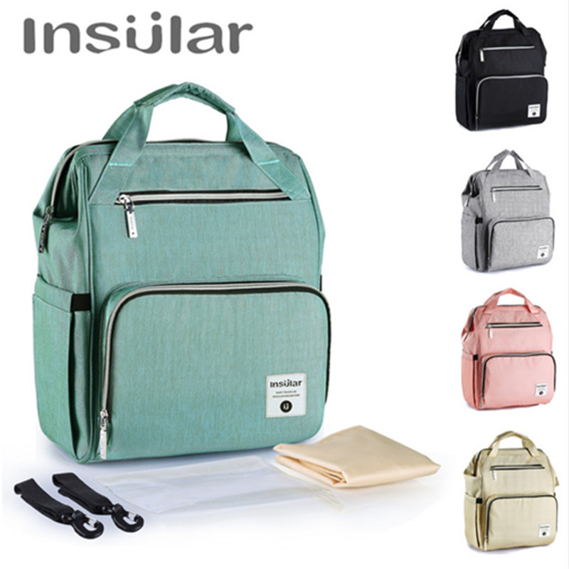 Insular 1+3 Diaper Nappy Bag Mummy Maternity Organize Large Capacity Baby Bag Backpack stroller bag Baby Care Travel Bag все цены