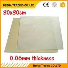 Почтой Китая Небольшая упаковка+ с тефлоновой тканью высокая термостойкость 30*30 см 0,06 мм толщина
