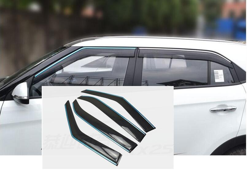 For Hyundai Creta ix25 window visor side window deflectors cover 2015 2016 2017 car accessores коврики в салонные ниши синие ix25 для hyundai creta 2016