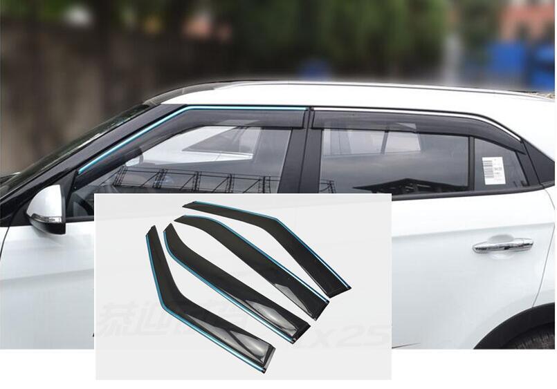 For Hyundai Creta ix25 window visor side window deflectors cover 2015 2016 2017 car accessores