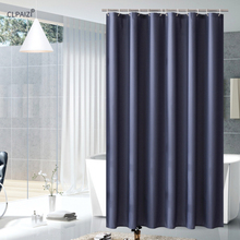 CLPAIZI Fabric Shower Curtain Blue Water Proof Polyester Liners Bathroom Curtains 72 W x H D30