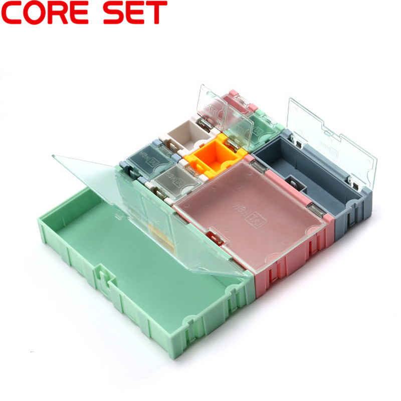 SMD SMT IC Component Container Storage Box Case Diy Mini Electronic Practical For Small Component Jewelry Tool Box Bead Pills