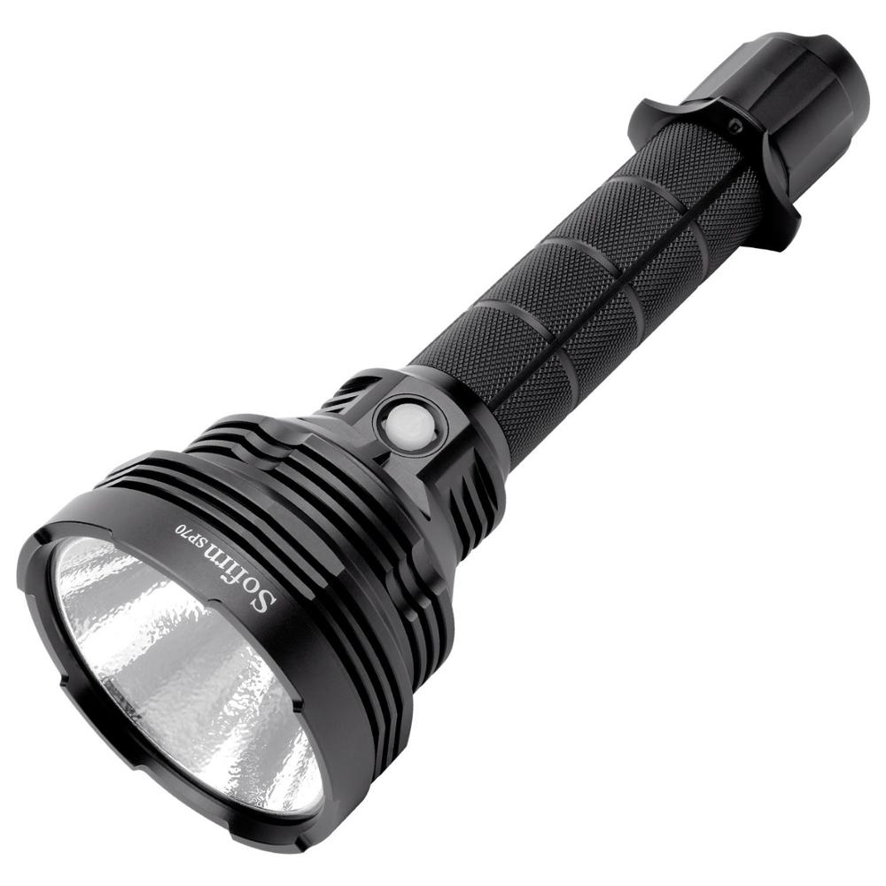Sofirn SP70 LED Powerful Flashlight 26650 Lantern 18650 Tactical Flashlight Torch Cree XHP-70.2 5500lm IP68 ATR Beacon 8 Levels