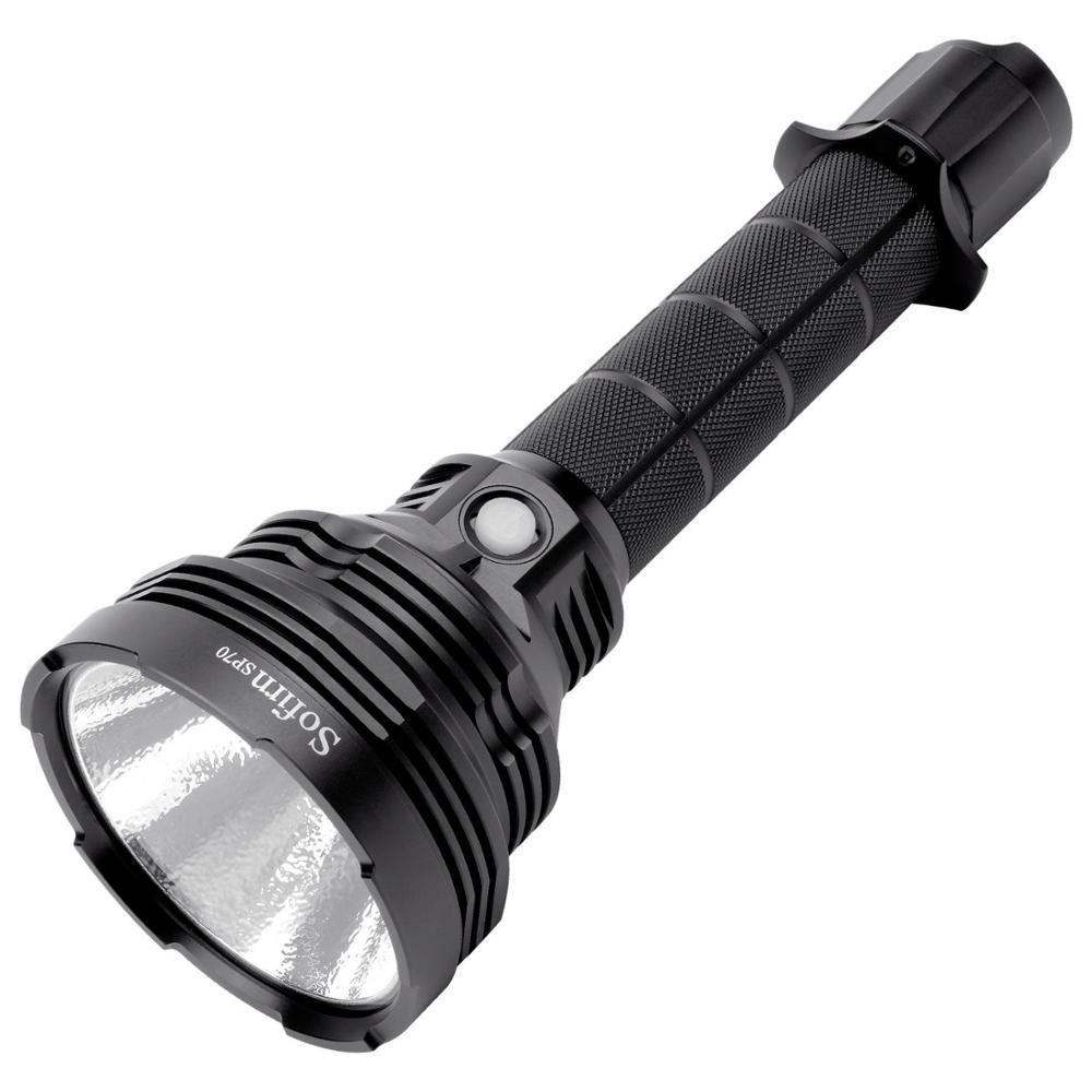 Sofirn SP70 LED Linterna potente 26650 linterna 18650 linterna táctica linterna Cree XHP-70.2 5500lm IP68 ATR Beacon 8 niveles Sofirn SP70 Ultra brillante 26650 linterna LED de alta potencia 5500LM táctica 18650 luz Cree XHP70.2 con ATR 2 grupos Ramping