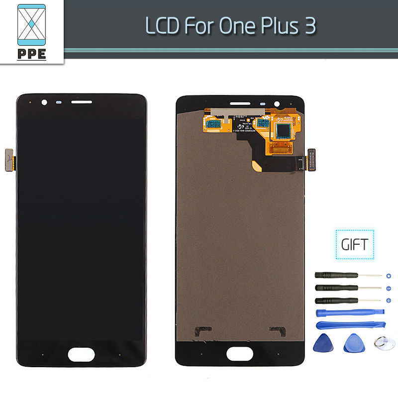 Original LCD Sacreen For Oneplus 3 A3000 LCD Display Touch Digitizer Pantalla Assembly Replacement LCD with
