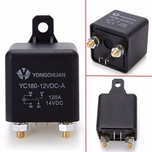 1pc Black Automotive Car Truck Relays Heavy Duty Split Charge ON/OFF Relay Switch 4 Terminals 12V 120A Mayitr