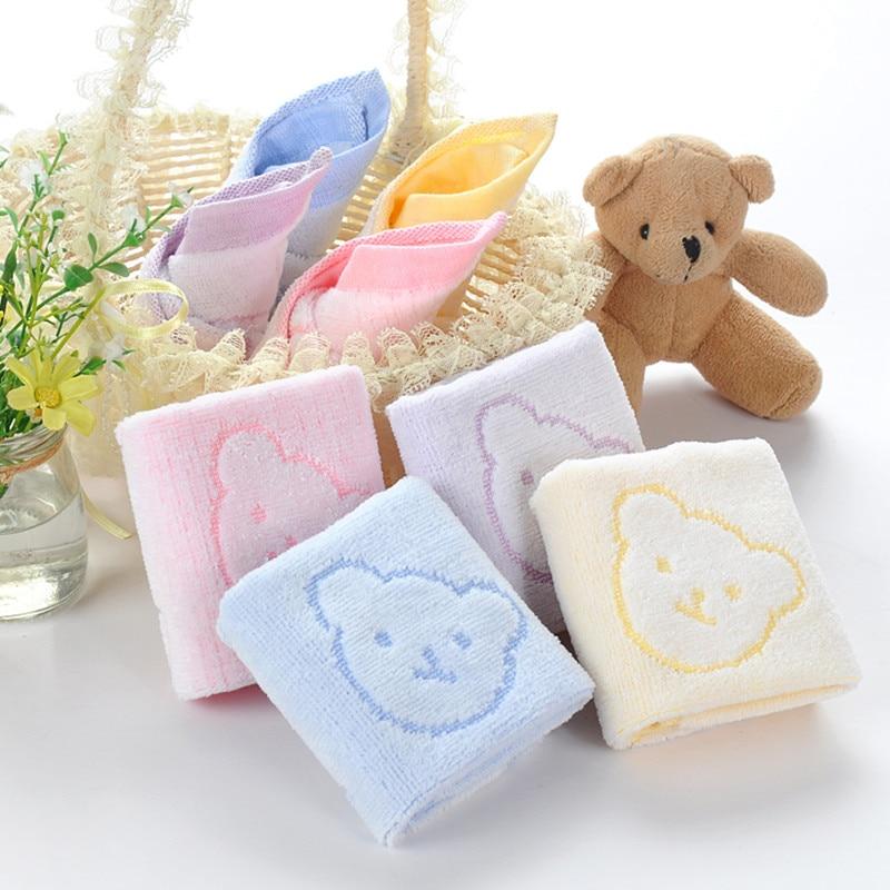 SexeMara 5PCS Baby Towel Baby Face Cloth Wipes Baby Kerchief Squares Toalla Bebe Absorbing Towels Soft Washcloth