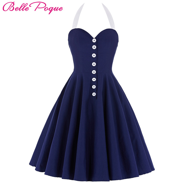 Belle poque 2017 mujeres dress robe sexy vestido retro de la vendimia negro rojo verano 50 s 60 s rockabilly party dress túnica ocasional vestidos