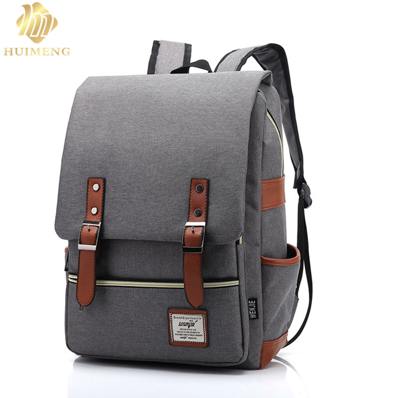 New Fashion Vintage Women Canvas Backpacks For Teenage Girls School Bags Large High Quality Mochilas Escolares Men Backpack