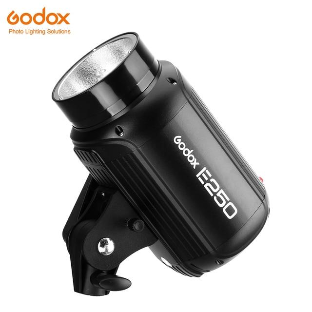 Godox E250 Fotoğraf Stüdyosu Strobe Fotoğraf Flaş ile kablosuz kontrol 250 W stüdyo ışığı portu ateş küçük ürünler
