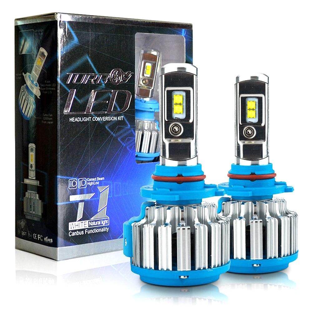 HL-T1 Pro LED Auto Scheinwerferlampen 70 Watt 7200LM H4 9004 Hallo-lo strahl Automotive Scheinwerfer Lichter mit CanBUS Fahrer EMC Turbo Fan IP68