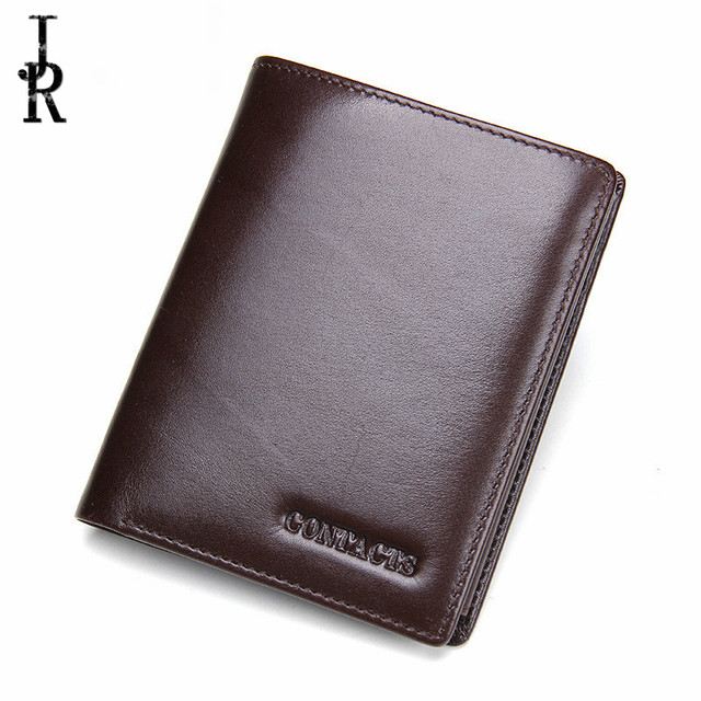 Black Coffee Soft Real Genuine Cowhide Leather Bifold Wallet Band Men Wallets Coin Purses Cards Holder Pocket billetera hombre