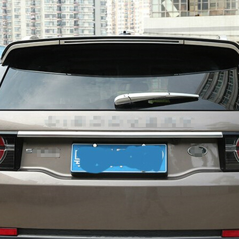 Chrome Rear Trunk Lid Cover Trim For Land Rover Discovery Sport 2015 2016 Accessories Car Styling for 2013 2014 2015 land evoque high quality rear trunk lid cover trim