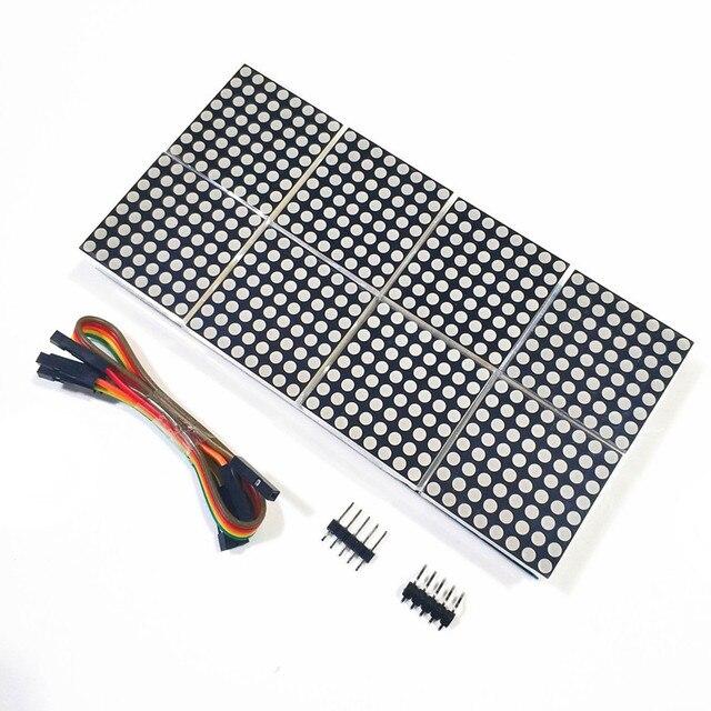 MAX7219 dot matrix modülü 8 nokta vuruşlu 2*4 ekran modülü MCU kontrol sürücü modülü